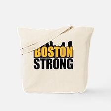 Boston Strong Gold Black Tote Bag