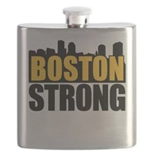 Boston Strong Gold Black Flask