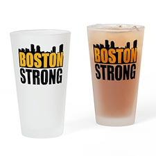 Boston Strong Gold Black Drinking Glass