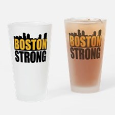 Boston Strong Gold Black Drinking Glass