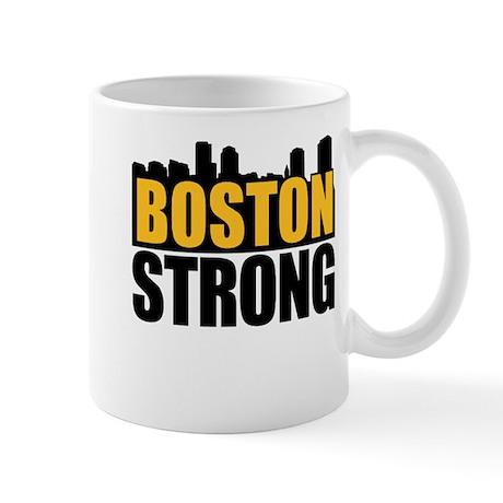 Boston Strong Gold Black Mug