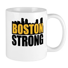 Boston Strong Gold Black Mug