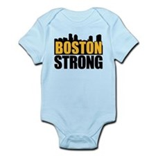 Boston Strong Gold Black Body Suit