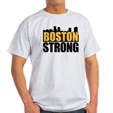 Boston Strong Gold Black T-Shirt