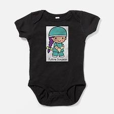 Future Surgeon girl Baby Bodysuit