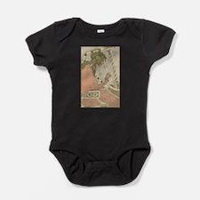 Art Nouveau Harpist Baby Bodysuit