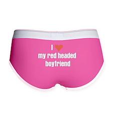 I love my red headed boyfriend Women's Boy Brief