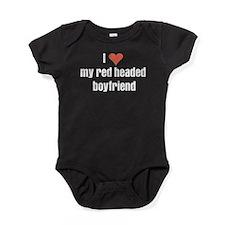 I love my red headed boyfriend Baby Bodysuit
