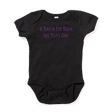man of few words Baby Bodysuit