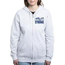 Boston Strong Blue Zip Hoodie