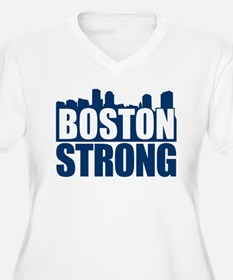 Boston Strong Blue Plus Size T-Shirt