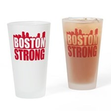Boston Strong Red Drinking Glass