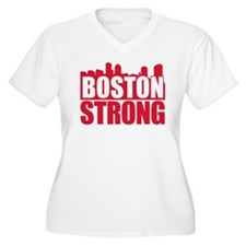 Boston Strong Red Plus Size T-Shirt