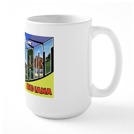Elkhart Indiana Greetings Large Mug