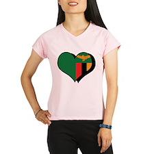 I Love Zambia Performance Dry T-Shirt