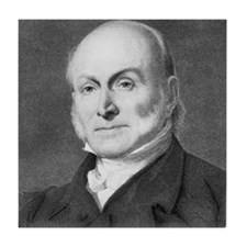 John Quincy Adams Tile Coaster