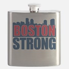 Boston Strong Red Blue Flask
