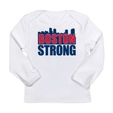Boston Strong Red Blue Long Sleeve T-Shirt