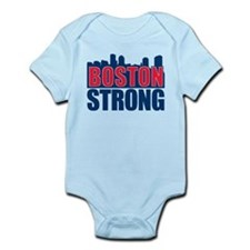 Boston Strong Red Blue Body Suit