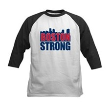 Boston Strong Red Blue Baseball Jersey