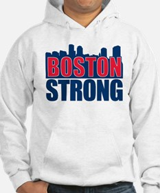 Boston Strong Red Blue Hoodie
