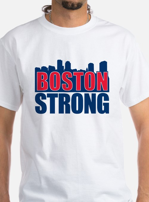 Boston Strong Red Blue T-Shirt