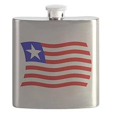 Liberia Flag 2 Flask