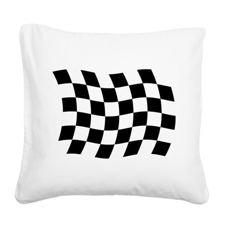 Checkered Flag Square Canvas Pillow