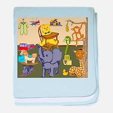 Baby Boys Room with nursery toys baby blanket