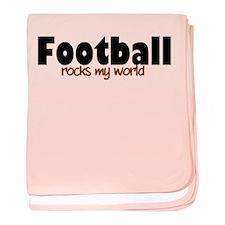 'Football' baby blanket