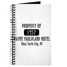 Property of the Wayne Faulkland Hotel Journal