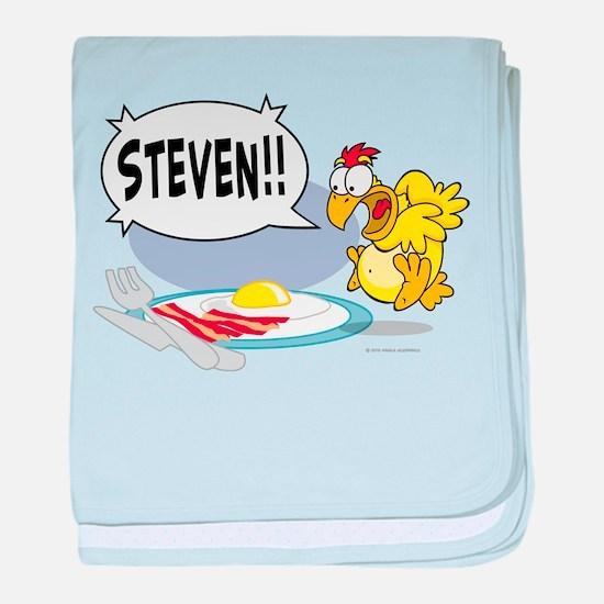 Steven the Egg baby blanket