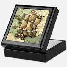 Ancient Map Keepsake Box