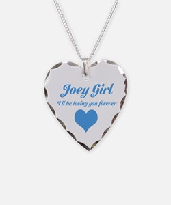 """Joey Girl"" Necklace Heart Charm"