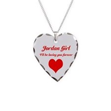 """Jordan Girl"" Necklace Heart Charm"