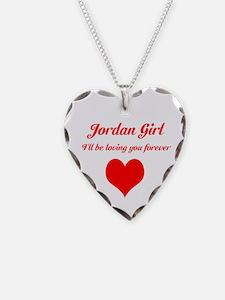 """Jordan Girl"" Necklace Heart Charm"