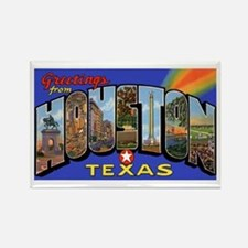 Houston Texas Greetings Rectangle Magnet