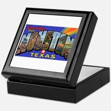 Houston Texas Greetings Keepsake Box