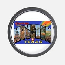 Houston Texas Greetings Wall Clock