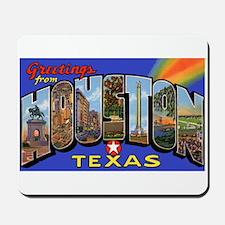 Houston Texas Greetings Mousepad