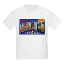 Houston Texas Greetings (Front) Kids T-Shirt