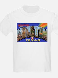 Houston Texas Greetings (Front) Kids T-Shirt