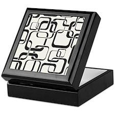 Black and White Retro Keepsake Box