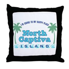 North Captiva Happy Place - Throw Pillow