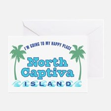North Captiva Happy Place - Greeting Card
