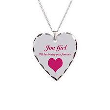 """Jon Girl"" Necklace Heart Charm"