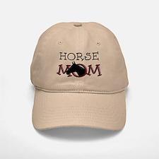 Black horse mom Mother's Day Baseball Baseball Cap