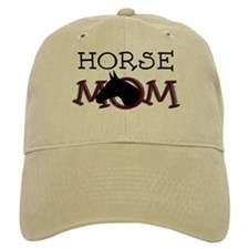 Black horse mom Mother's Day Baseball Cap