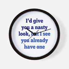 Nasty Look Wall Clock