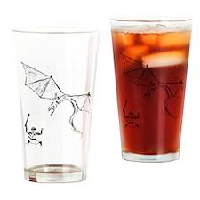 Ninja Monkey vs Dragon Drinking Glass